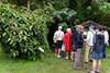 Group getting ready to enter cloud forest