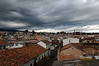 Darkening skies over our apartment in Cuenca