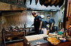 Main chef Juan Carlos tends the tiestos