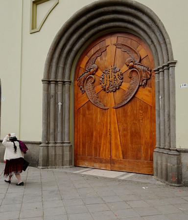 Beautiful church door, Gualaceo