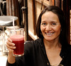 Sandra raises a glass