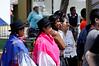 Ecuadorian ladies watching the festivities