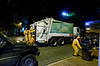 """Trash is picked up very late in the evening - kind of reminiscent of """"Soylent Green"""""""