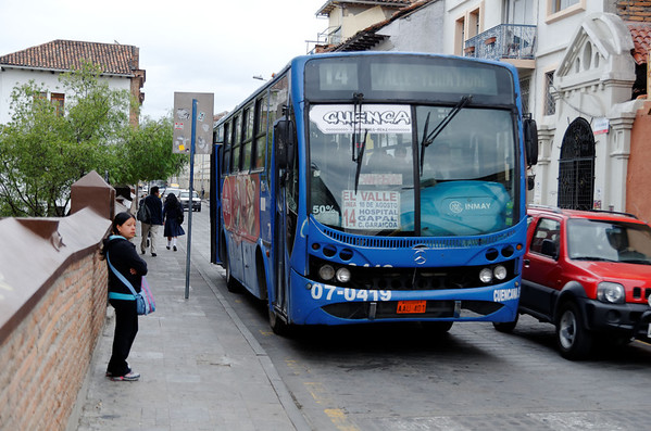 The much feared blue bus, Cuenca