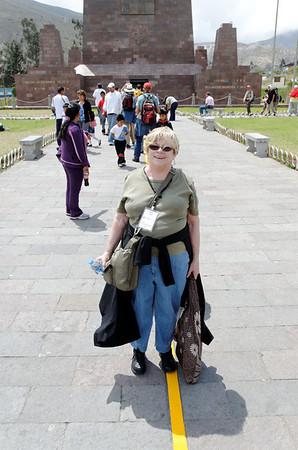 Karen at the equator line