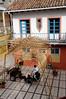 Women doing needlework in the artisans' market