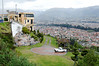 View from hillside overlooking Cuenca in the rain