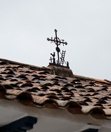 Mestizo cross showing the many additions to the original simple Spanish cross
