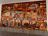 Cuenca, ceramic mosaic mural outside the government building on Parque Calderon plaza