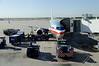 DAY 1 HOUSTON/MIAMI/QUITO Houston airport - getting loaded for the trip to Miami