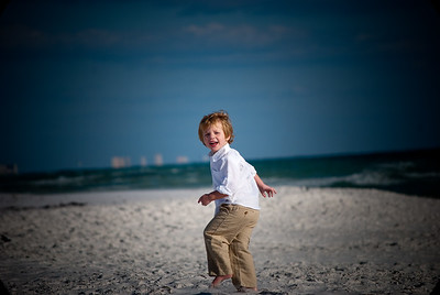 Dylan playing at the beach in Destin Florida