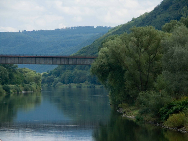 bridge on the Mosel from Zell to Cochem