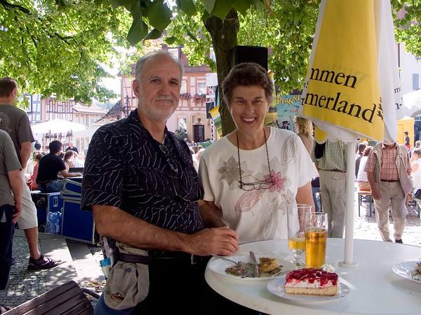 Bad Wimpfen - German beer, mushrooms, and cake