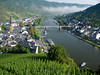 Cochem and ship from Reichburg Castle