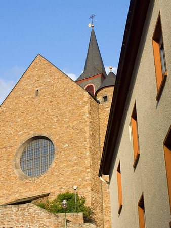 Cochem, church and angles