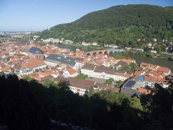 Heidelberg, town and Heiliggeistkirche