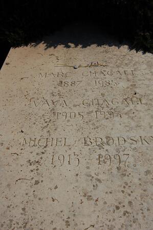 Chagall family grave <br /> St-Paul-de-Vence, France
