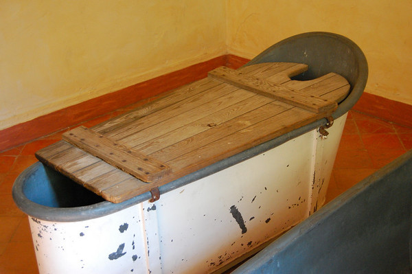St. Remy - tub where patients were immobilized