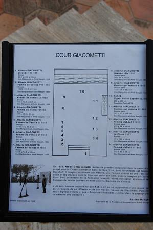 Alberto Giacometti<br /> Foundation Maeght  <br /> St-Paul-de-Vence, France
