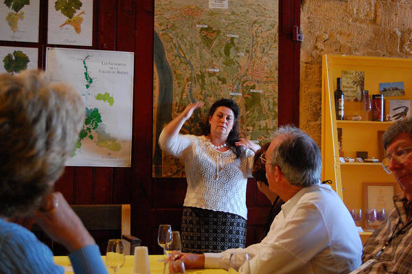 The owner explains.<br /> Chateauneuf du Pape, France