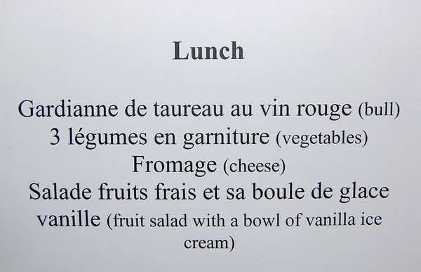 Cecile's translation - Bull for lunch