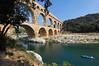 Other side, showing original construction <br /> Pont du Gard, France