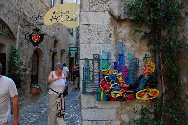 Street scene <br /> St-Paul-de-Vence, France