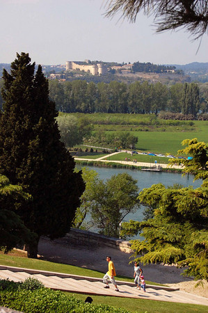 Looking out from the Palace of the Popes <br /> Avignon, France