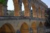 Pont du Gard, upper level for water, lower level widened on this side for people <br /> Pont du Gard, France