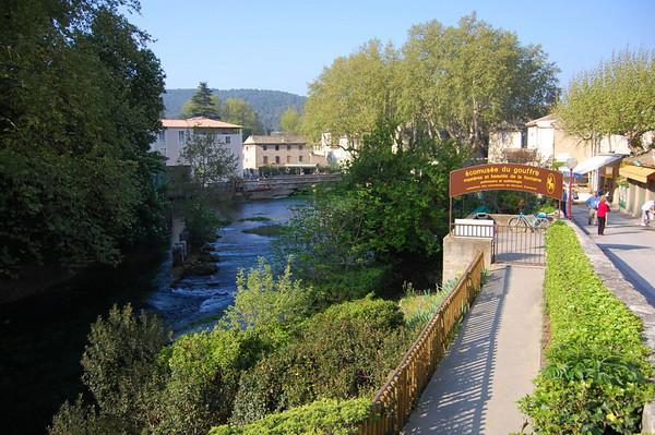 River view <br /> Fontaine de Vaucluse, France