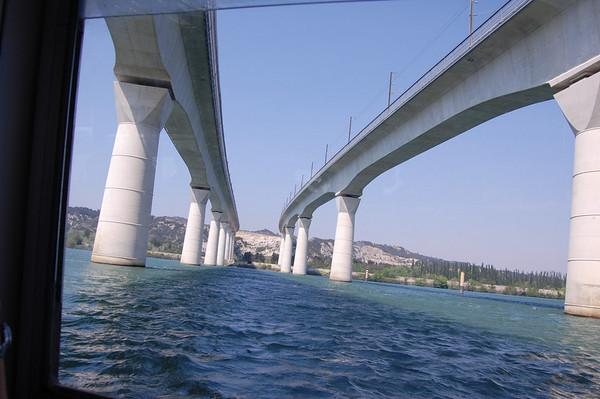 High speed train bridge over the Rhone