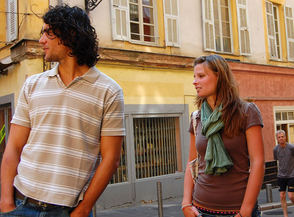 Interesting couple <br /> Nice, France