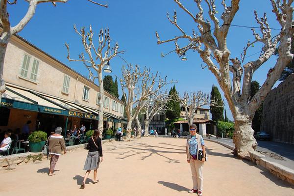 Suzanne & Plane trees<br /> St-Paul-de-Vence, France