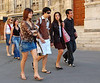 Young fashion in Arles - no cameras, not tourists