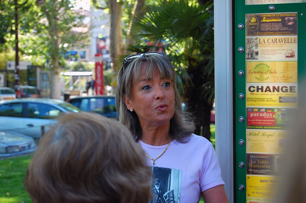 Local guide for Aix.  Note from 2014 Paris Immersion trip; our AHI host was Karine who was interested in looking at my photos. The next day she told me she had found her mother, Stella, who had been our guide in Aix. Small world!