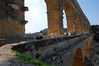 Showing the pedestrian expansion <br /> Pont du Gard, France