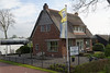 """Entering Giethoorn; """"Goat Horn"""" from the many goat horns unearthed that were the result of an ancient flood"""
