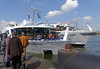 Amsterdam; our first view of the ship, Amadeus Silver