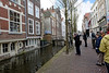 Delft; our guide Jim points out that the canal is literaly at your doorstep