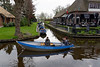 Giethoorn; some canals are one-way and can get clogged with rented boats that make wrong turns