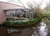 Keukenhof Gardens; pool surrounds the view of the greenhouse