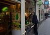 Amsterdam; Suzanne window shopping