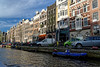 Amsterdam; sunshine - note the hoisting beams used to get furniture to the upper floors