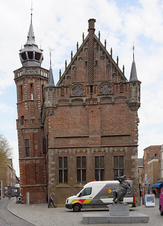 Kampen; 14th century gothic church with leaning tower