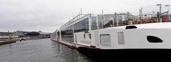 Amsterdam; Viking Skadi moored alongside us