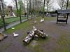 Keukenhof Gardens; play area and farm exhibit