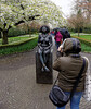Keukenhof Gardens; much photographed statue