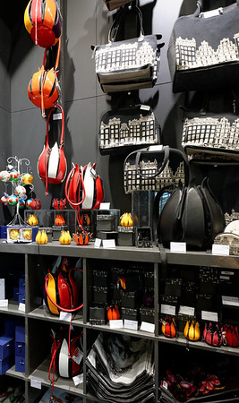 Keukenhof Gardens; gift shop, tulip purses