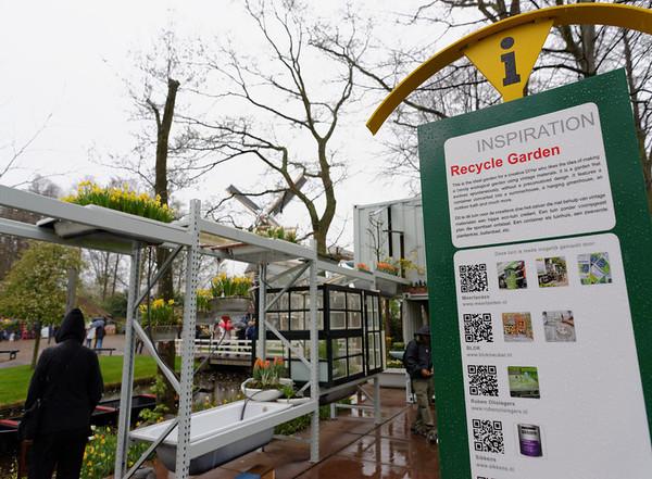 Keukenhof Gardens; recycled material