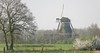 Toward Giethoof; windmill rising up in the mist